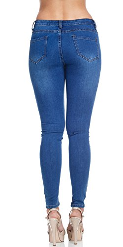 Women's Super Comfy Basic Low Rise Skinny Jeans with Comfort Stretch 4