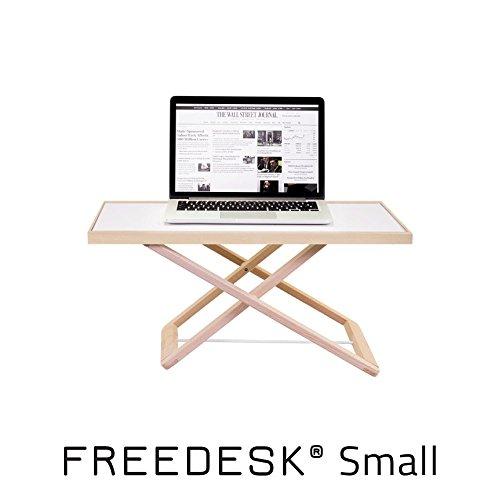 freedesk–Portátil Escritorio de pie   altura regulable   diseño sueco. Niños. (tamaño pequeño)   color blanco