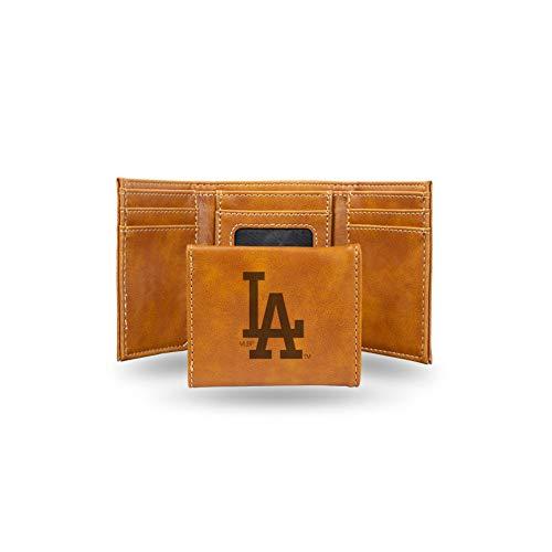 Rico Industries Unisex's Dodgers Geldbörse mit Lasergravur, dreifach faltbar, Einheitsgröße, Braun