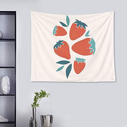 KHKJ Estampado de Flores decoración del hogar Tapiz Colgante de Pared decoración de Frutas de limón Tapiz de Sala de Estar Tela Colgante de Pared A12 150x130cm