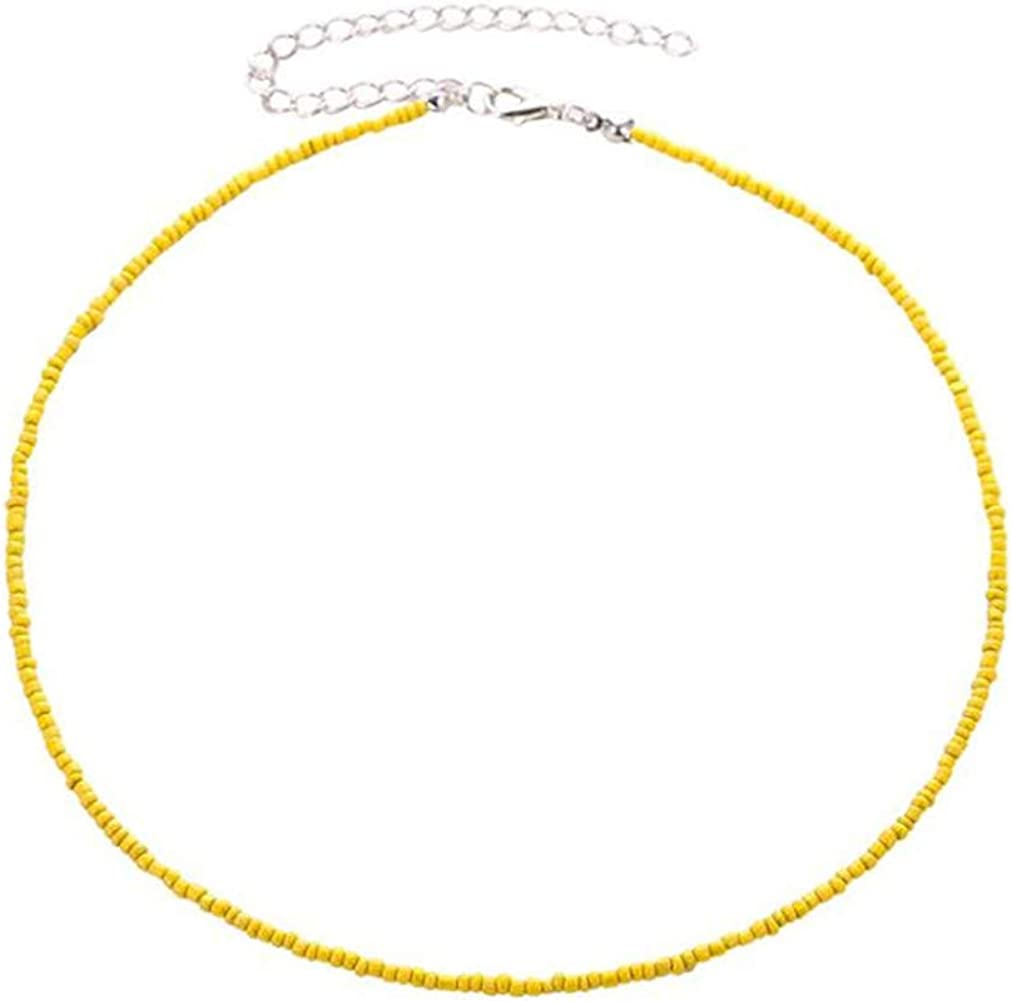 Sevenfly Seed Bead Choker Necklace Tiny Beaded Choker Boho Colorful Choker Necklace Chain Jewelry For Women And Girls