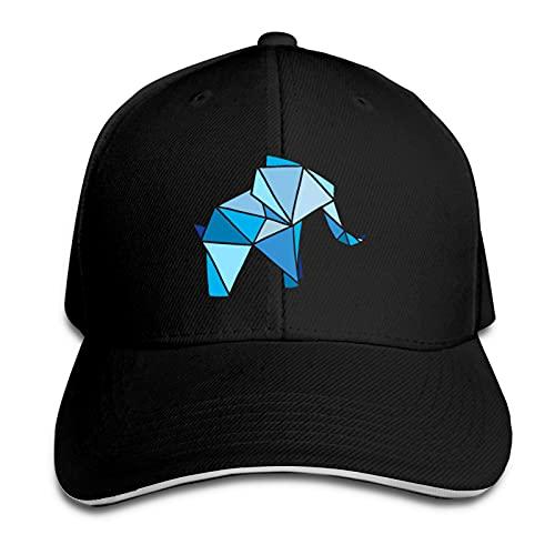 AUDNEDB Linda gorra de béisbol japonesa origami elefante hombres mujeres clásico deportes ocasionales sombrero negro