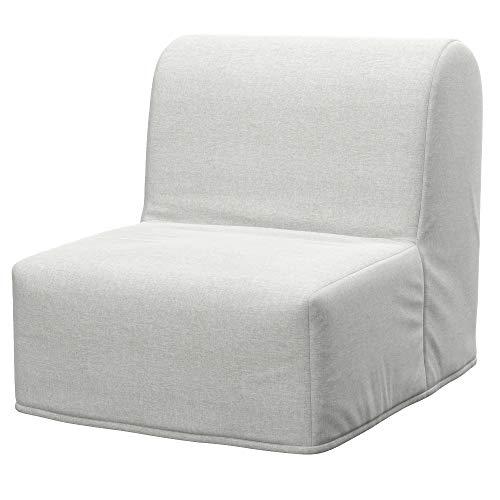 Soferia Ersatzbezug fur IKEA LYCKSELE Sessel, Stoff Classic Creme, Ecru