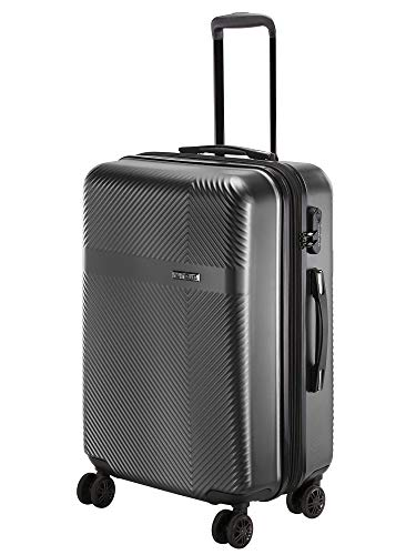 Nasher Miles Fifth Avenue 28 Inch ,Check-in, Expander, Hard-Sided, Polycarbonate Luggage, Black 75cm Trolley Bag
