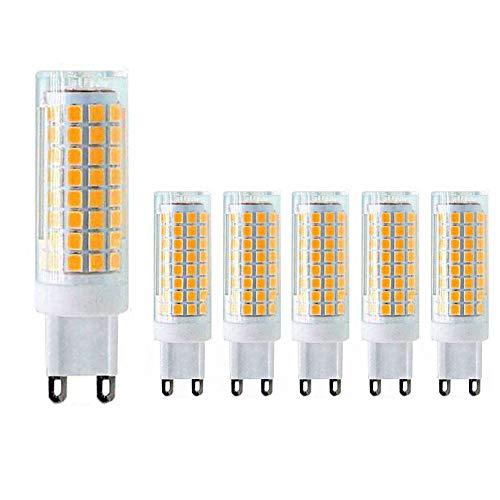 MD Lighting G9 LED Bulb 10W LED Corn Light Bulbs(6 Pack)- G9 Ceramic Bulbs Replacement 100W Equivalent Halogen Bulbs Warm White 3000K G9 LED Bulbs for Home Lighting, Ceiling Fan, Dimmable, AC120V
