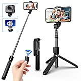SYOSIN Bastone Selfie, Estensibile 4 in 1 Selfie Stick Bluetooth con Treppiede per Camera ...