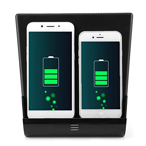 Carga del teléfono del coche Dual 10W Almohadilla de carga del teléfono inalámbrico 15W USB Fast Charge3.0 Consola central Reposabrazos Caja para Tesla Model 3 2016-2020