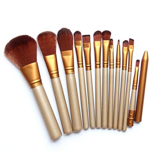 LUGJ Lot de pinceaux de maquillage multifonction pour le visage et les débutants