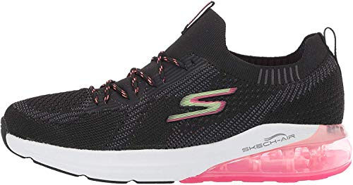 Skechers Women's Go Run Air Trainers, Black (Black and Multi Textile/Trim Bkmt), 7 UK (40 EU)