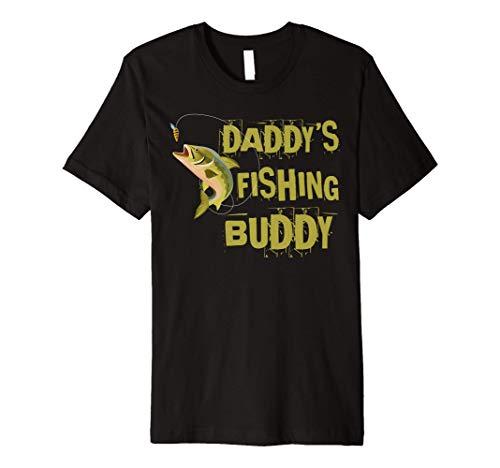Daddy's Fishing Buddy Funny Kids Fisher Gift Premium T-Shirt