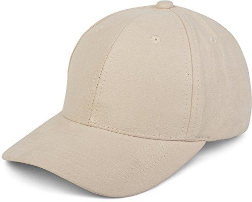 styleBREAKER 6-Panel Cap in Veloursleder, Wildleder Optik, Baseball Cap, verstellbar, Unisex 04023049, Farbe:Creme-Beige