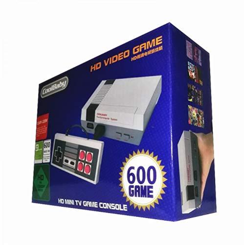 O RLY Retro Spiel konsolen Klassische Videospiele Videospielkonsole TV HDMI Zwei Controller (600 Games)
