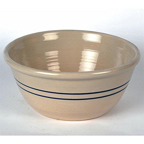 16' Heritage Blue Stripe Stoneware Mixing Bowl
