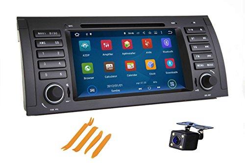 XISEDO Android 7.1 Autoradio 1 Din In-dash Car Radio 7' Car Stereo RAM 2G Navigatore GPS con Schermo di Tocco e Lettore DVD per BMW 5-E39/BMW X5-E53 Supporto Control Del Volante