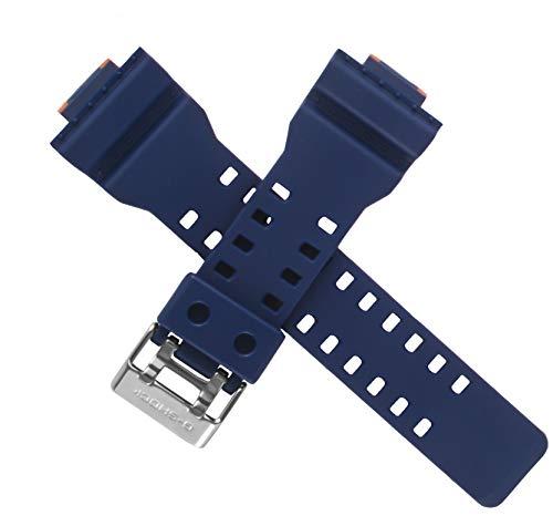 Casio - Correa de reloj para GA-100L-2A GA100L GA100 GA-100, color naranja y azul