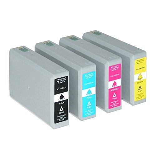 4 Tintenpatronen XXL kompatibel für Epson Workforce Pro WF-5110 5190 DW 5620 5690 DWF C13 T7891 T7892 T7893 T7894 4010