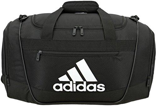 adidas Bolso Deportivo Unisex Defender III, tamaño pequeño, Color Negro y Blanco