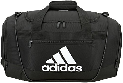 adidas Unisex Defender III Small Duffel Bag, Black/ White, Small