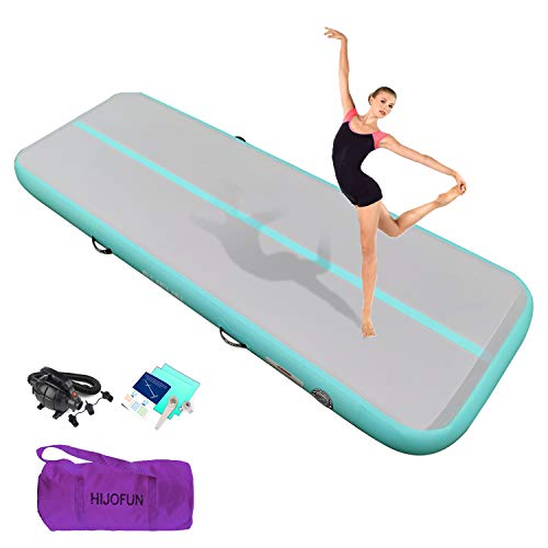 HIJOFUN Premium Air Track 10ft 13ft 16ft 20ft Airtrack Gymnastics Tumbling Mat Inflatable Tumble...