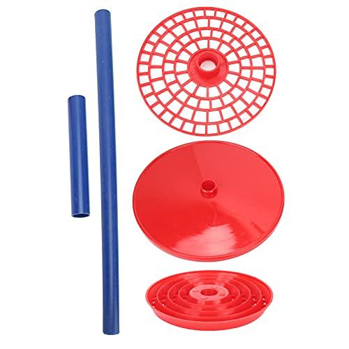 Pipettenhalter, Kunststoff-Pipettenständer-Ständer Rot Labor-Pipettenständer-Pipettenständer 18,3 x 9,1 Zoll für Labor