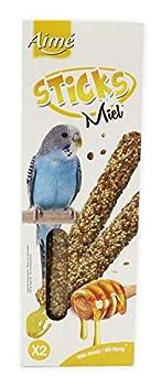 Aime Baguettes au Miel pour Perruches/Friandises pour Oiseaux/2 Baguettes Croustillantes