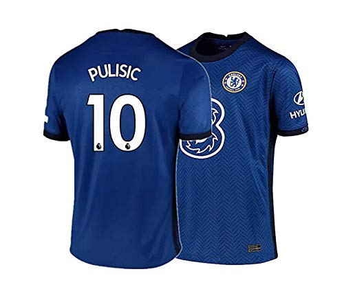Barlener New 2020-2021 Christian Pulisic New #10 Jersey Mens Home T-Shirts Blue (Medium)