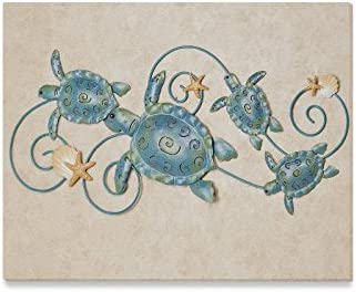 Christmas New Year Home Decor Cute Sea Turtle With Starfish Pattern Home Decorative Canvas Prints product image