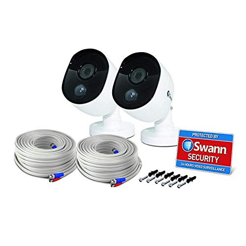 Swann Thermal Sensor Outdoor Security Cameras 4 Pack: 1080p Full HD with IR Night Vision & PIR Motion Detection