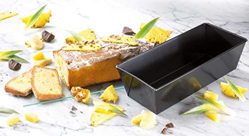 Dr. Oetker Kastenform 25 cm, Königskuchenform mit Antihaftbeschichtung, hochwertige Form, eckige Kuchenform (Farbe: schwarz), Menge: 1 Stück