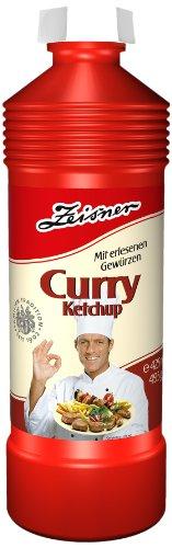 Zeisner Curry-Ketchup 425ml/495g Flasche, 12er Pack (12 x 425 ml)