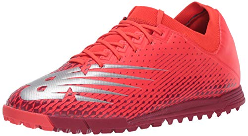New Balance Men's Furon Dispatch Turf V6 Soccer Shoe, Neo Flame/Neo Crimson, 9.5 M US