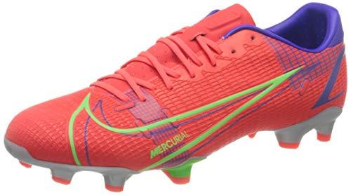 Nike Vapor 14 Academy FG/MG, Scarpe da Calcio Unisex-Adulto, BRT Crimson/Mtlc Silver-Indigo Burst-White-Rage Green, 42 EU