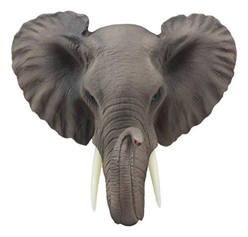 Ebros Safari African Bush Elephant Wall Bust Sculpture 9'Tall Majestic Noble Elephant Head Hanging Wall Decor Figurine For Wild Animal Lovers