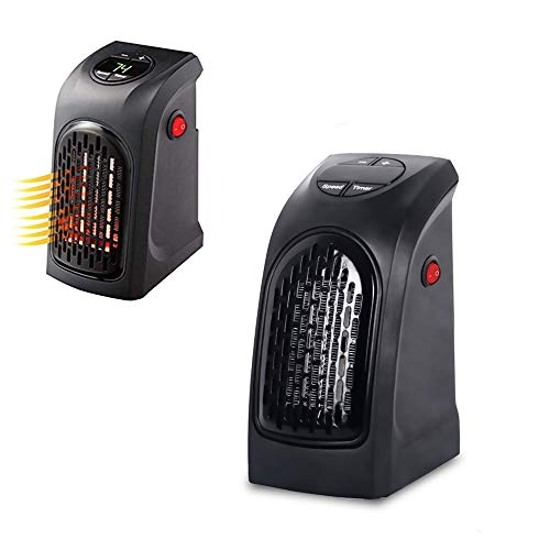 Wealth Mini-ventilatorverwarming, elektrische kachel gemonteerde elektrische verwarming, handverwarmer 400 W, draagbaar stopcontact, verwarming, keuken, bar, badkamer, hotel, reizen