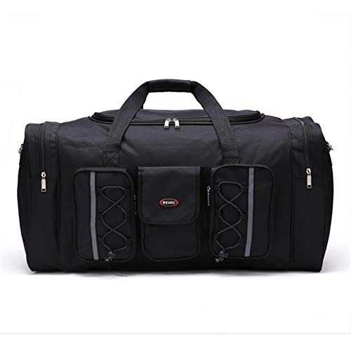 LOEMWJ Travel Large Capacity Men's Travel Bag Women's Waterproof Luggage Bag Male Travel Duffle Bags (Color : Black)