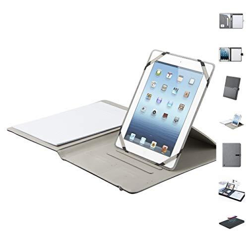 Antevia – Carpeta A4 con soporte tablet + bloc de notas, más de 30 modelos | Material: piel sintética | Cierre: pulsera elástica | Portadocumentos (Bonza)