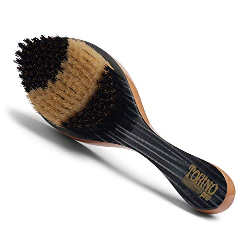 Torino Pro Wave Brush #55- Hybrid Curve brush with Medium and Soft Bristles 100% Boar Bristles-...