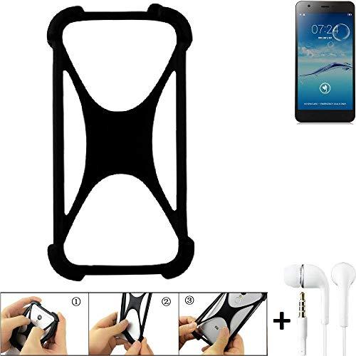K-S-Trade® Handyhülle Für Jiayu S3+ Schutzhülle Bumper Silikon Schutz Hülle Cover Case Silikoncase Silikonbumper TPU Softcase Smartphone, Schwarz (1x), Headphones