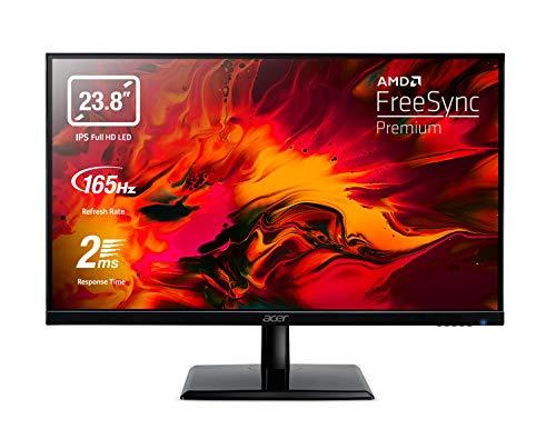 Acer EG240YPbipx Monitor Gaming FreeSync Premium 23,8 , Display IPS FHD, 165 Hz, 2 ms, 16:9, HDMI (2.0), DP (1.2), Lum 300 cd m2, Audio out, ZeroFrame, Cavi HDMI, DP Inclusi
