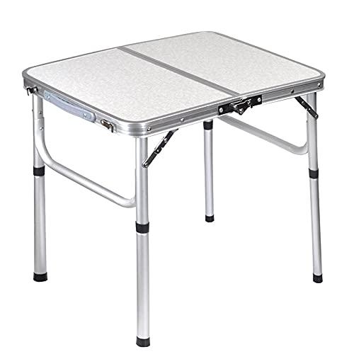 Flystpp Mesa de Picnic Plegable de Aluminio Plegable de la Mesa de Camping portátil, Mesa de Comedor Plegable para Exteriores al Aire Libre (Color : Silver)