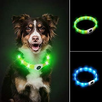【Höhe Sichtbarkeit】: Der LaRoo blinkende halsband kann superleuchtendes licht bieten und Ihren Hund hohe Sichtbarkeit draußen während des Gehens halten,. Mit diesem Hund Sicherheitshalsband können Sie und Ihr Hund deutlich von anderen Hund Wanderer, ...