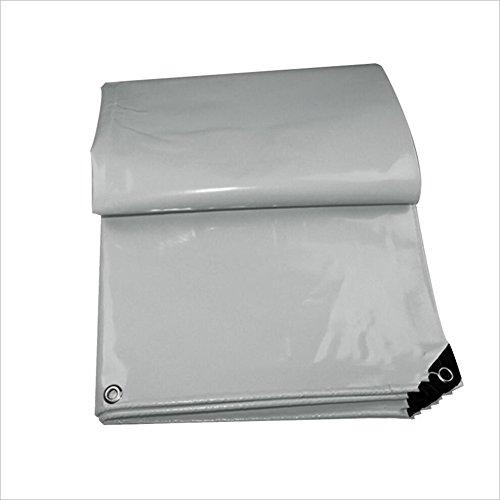 PENGFEI Wasserdicht Plane Gewebeplane Staubdicht Gartenarbeit Sonnenschutz Ladung Carport Hohe Temperaturbeständigkeit PVC, Dicke 0,47 Mm, 3.5X3.5M (Farbe : Grau, größe : 3.5x3.5M)