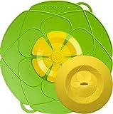Kochblume - das Original vom Erfinder Armin Harecker L 29 cm Limette | Überkochschutz für Topfgrößen von Ø 14 bis 24 cm | mit Frischhaltedeckel gratis