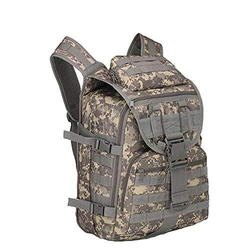 Sac à dos tactique militaire multifonction 40 L Oxford 800D imperméable pour homme et femme (camouflage ACU)