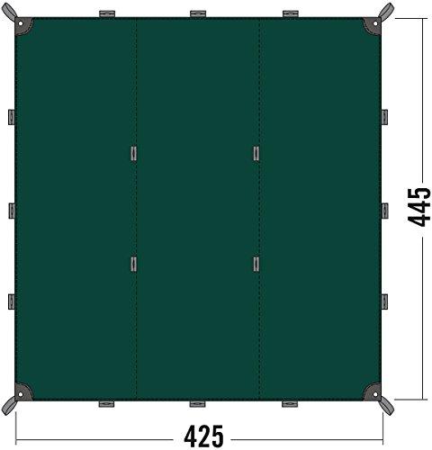 Tatonka zonnezeil Tarp 1, bazil, 425 x 445 cm