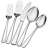 Godinger Silverware Set, Flatware Sets, Mirrored Stainless Steel Cutlery Set, 20 Piece Set, Service for 4