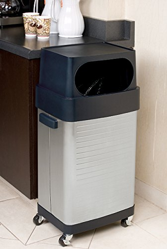 Seville Classics 17-Gallon UltraHD Commercial Stainless Steel Trash Bin