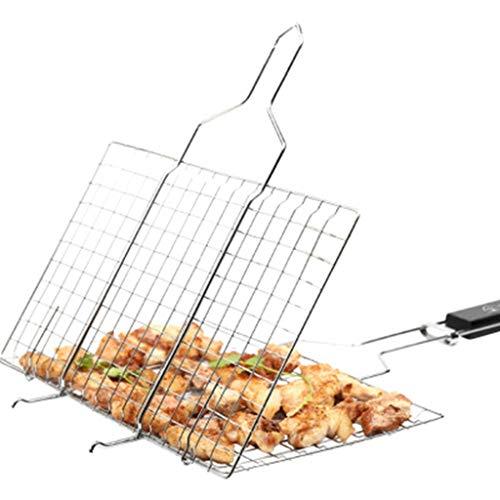 MISS YOU Grillgitterclip Outdoor gegrillten Fisch Clip gegrillten Fisch net Schiene Grill Netto-Brot Brot net tragbaren Grill Werkzeug