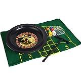 S-TROUBLE Roulette da 10 Pollici Set da Casinò Roulette con fiches da Poker in tovaglia per Bar KTV Party Borad Game