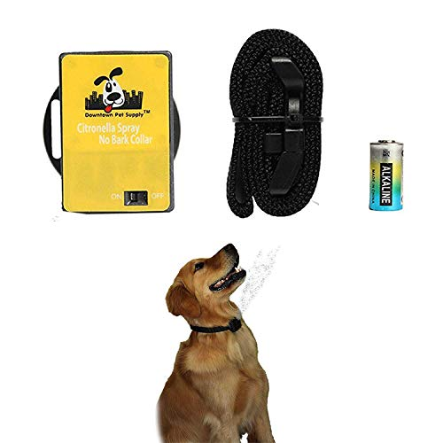 Downtown Pet Supply Citronella No Bark Automatic Spray, Humane No Shock Collar, Anti-bark with Advanced Bark Detection (Excludes Citronella Spray Can)